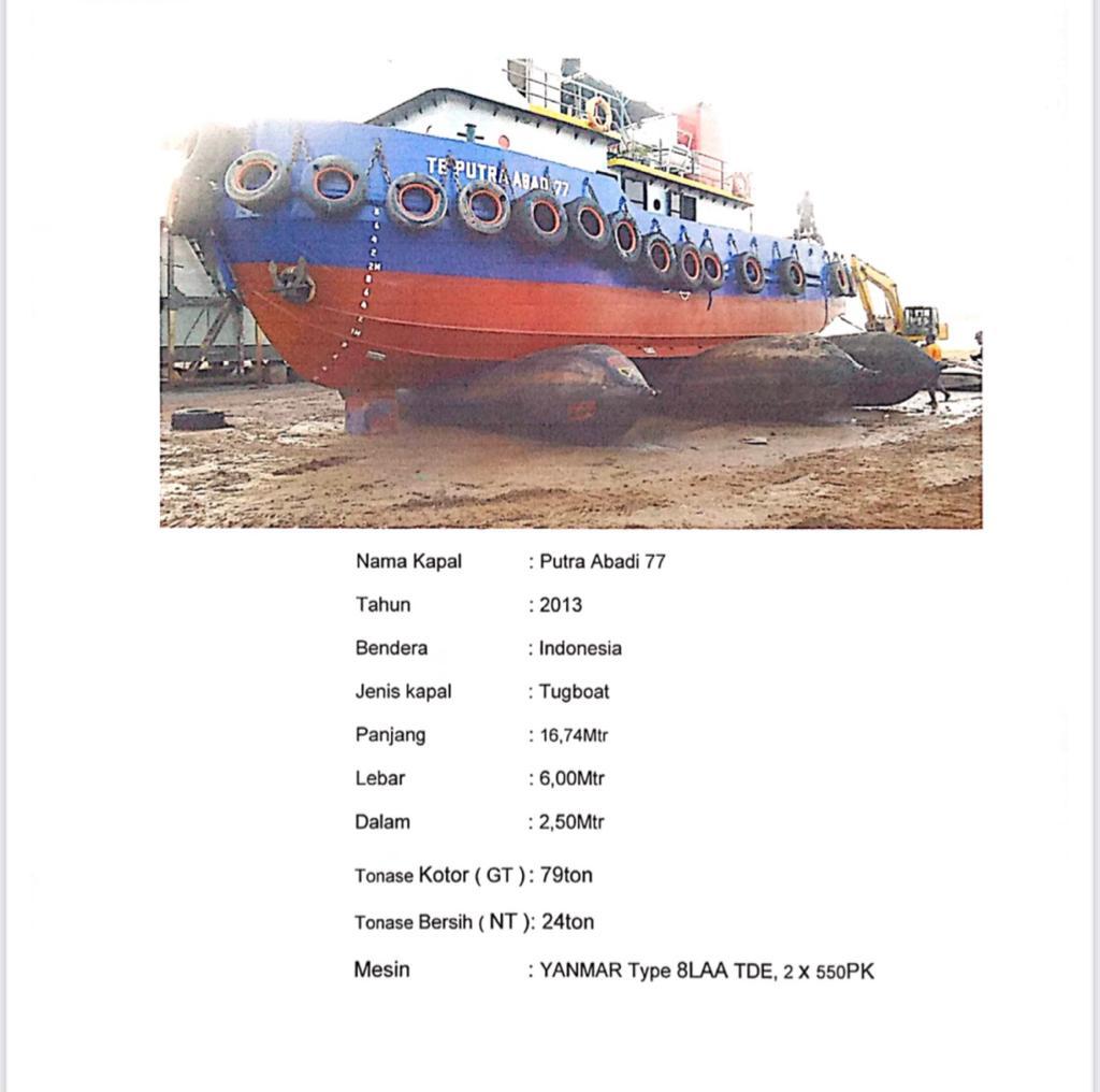 Tugboat PUTRA ABADI 77, Tahun 2013
