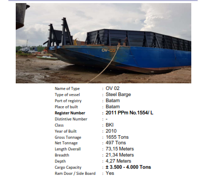 Barge OV 02, Tahun 2010