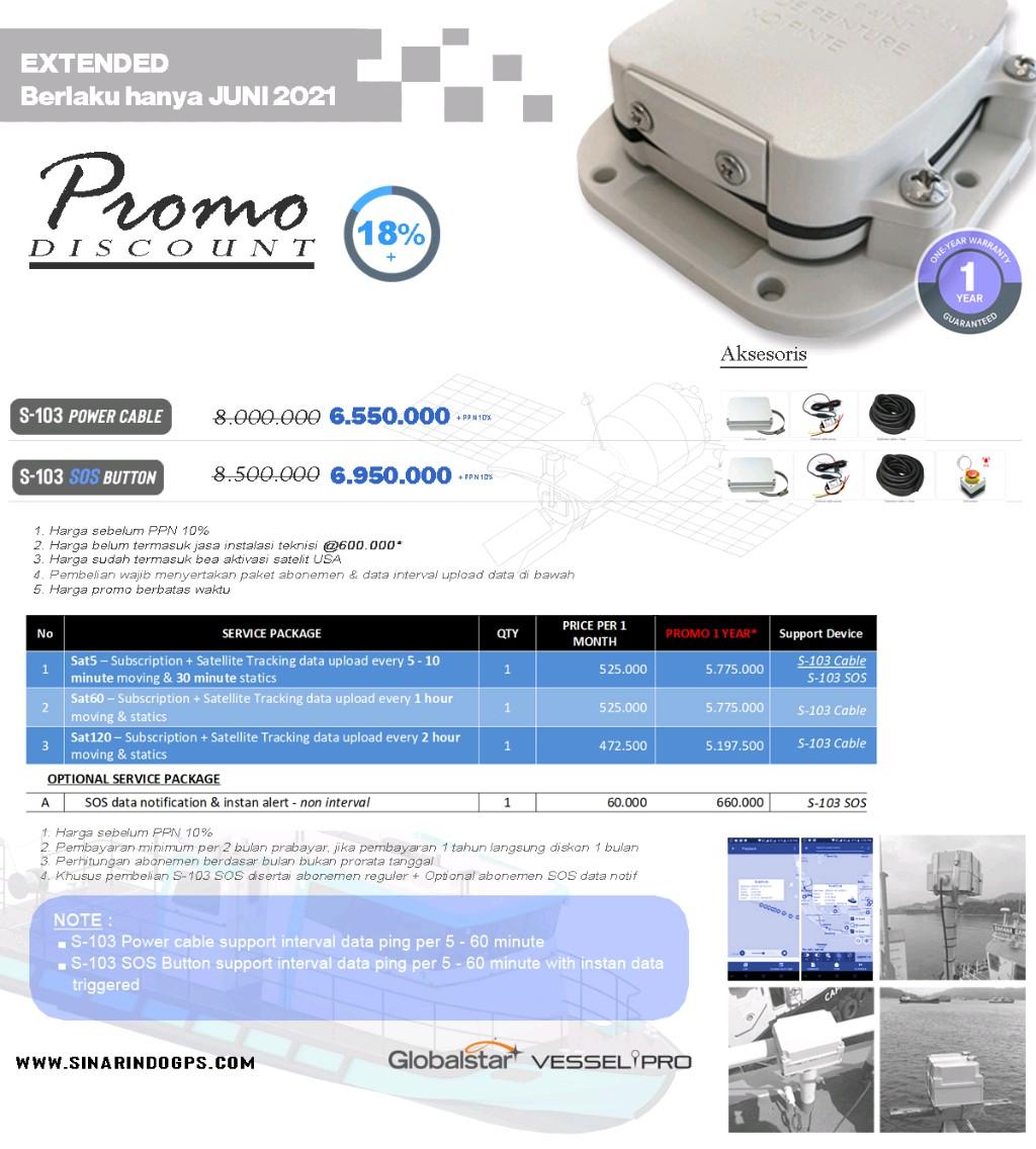 GPS Tracker Kapal Data Satelit S103 (Smartone C)